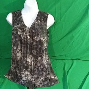 Daisy Fuentes black gray tank XL